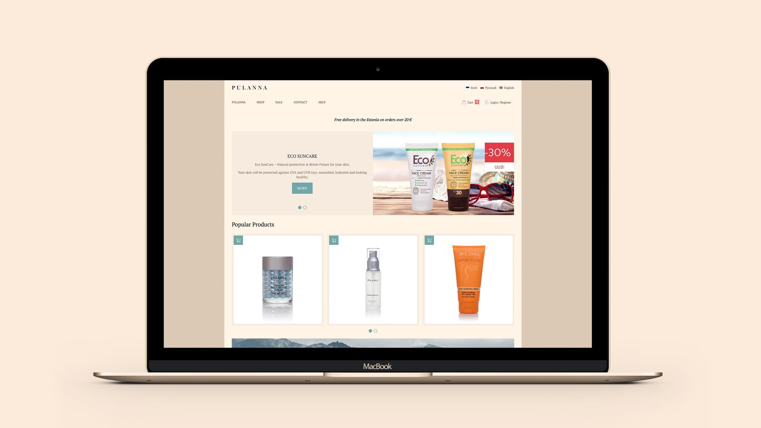 Pulanna Web Store