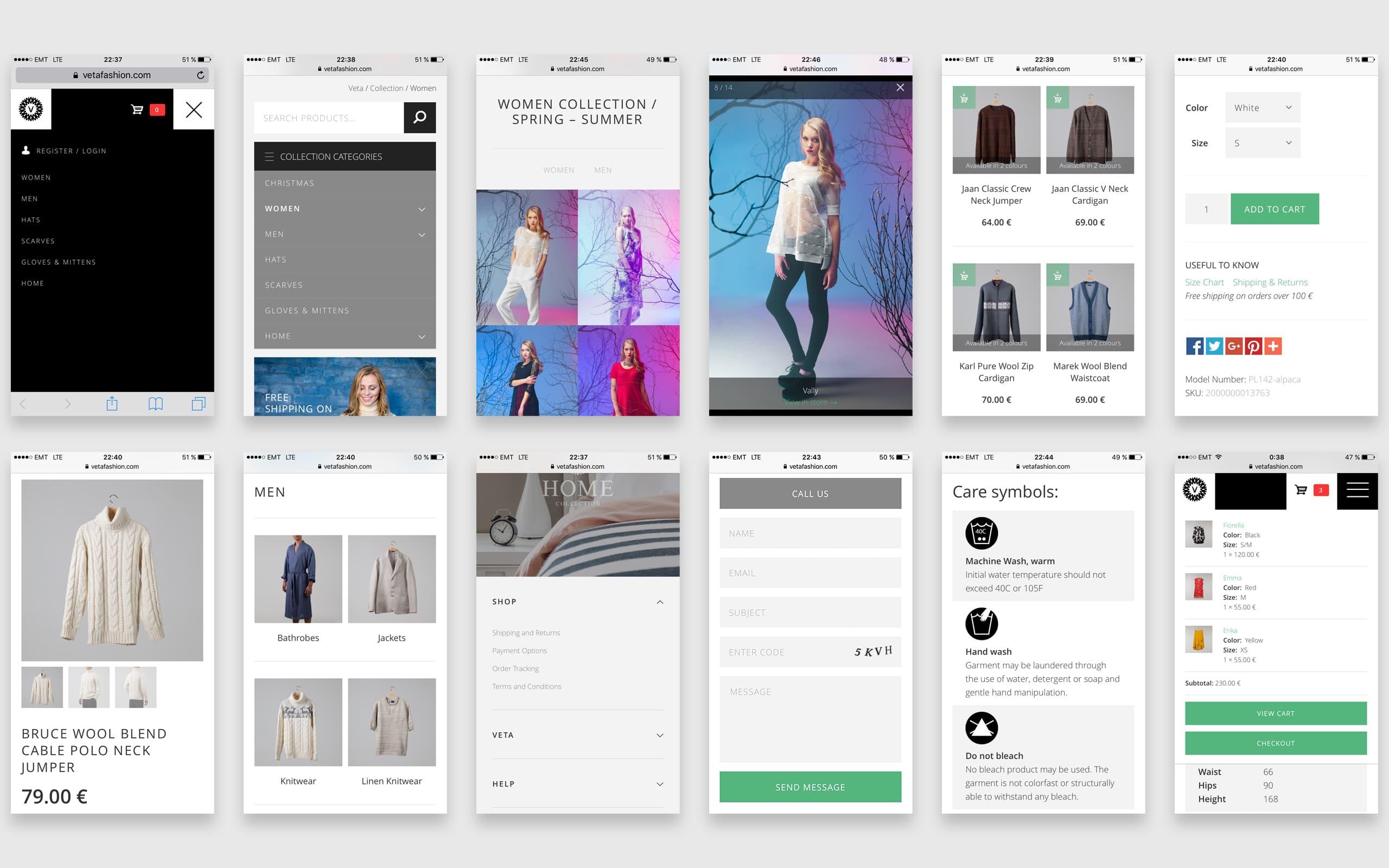 Veta web store